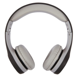 Ativa™ Kids' On-Ear Wired Headphones With On-Cord Microphone, Black/Gray