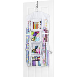 Whitmor Gift Wrap Organizer - White, Clear