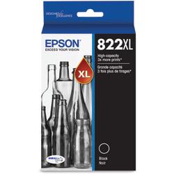 Epson® 822XL DuraBrite® Ultra High-Yield Black Ink Cartridge, T822XL120-S