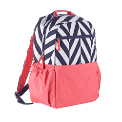 Studio C® Tweedle Dee Laptop Backpack, Navy/Peach