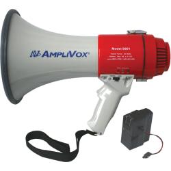 AmpliVox Mity-Meg 15-Watt Rechargeable Megaphone - 15 W Amplifier - Built-in Amplifier - Battery Rechargeable - 8 Hour