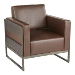 LumiSource Drift Lounge Chair, Brown/Espresso