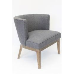 Boss Ava Accent Chair, Slate Gray/Driftwood