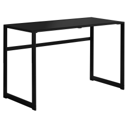Monarch Specialties Computer Desk With Tempered Glass Top, Black