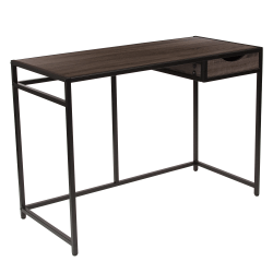 "Flash Furniture Homewood Collection 42""W Computer Desk, Driftwood/Black"