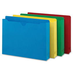 """Smead® Heavyweight Color File Jackets, Letter Size, 2"""" Expansion, Assorted, Box Of 50"""