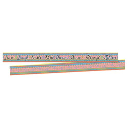 "Barker Creek Double-Sided Border Strips, 3"" x 35"", Pink Lemonade, Set Of 24"