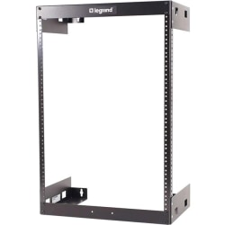 "C2G 15U Wall Mount Open Frame Rack - 12in Deep (TAA Compliant) - 19"" 8U Wide Wall Mountable for LAN Switch - Black Textured, Black Powder Coat - 200 lb x Maximum Weight Capacity"""