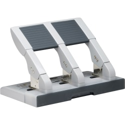 """Swingline® Antimicrobial High Capacity Heavy Duty Punch, 3 Holes, 75 Sheets - 3 Punch Head(s) - 75 Sheet Capacity - 9/32"""" Punch Size - Gray"""