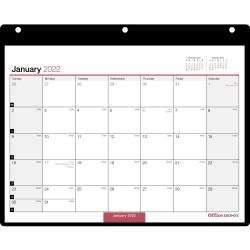 "Office Depot® Brand Monthly Desk/Wall Calendar, 11"" x 8"", White, January To December 2022, OD201200"