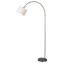 "Kenroy Home Archer Arc Floor Lamp, 80""H, Antique Brass"