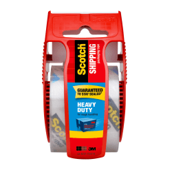 """Scotch® Heavy-Duty Shipping Tape With Dispenser, 1-7/8"""" x 22.2 Yd., Clear"""