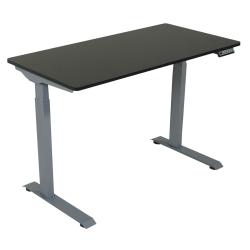 "Victor Electric Standing Desk, 28-3/4""H x 48""W x 23-5/8""D, Black/Light Gray"