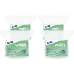 "Genuine Joe Disinfecting Cleaning Wipes, Fresh Scent, 6"" x 8"", 800 Wipes Per Pack, Carton Of 4 Packs"