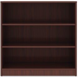 "Lorell® 36"" 3 Shelf Casual Bookcase, Mahogany/Dark Finish"