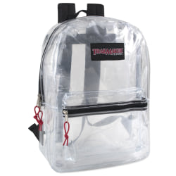 Trailmaker Clear Backpacks, Assorted Colors, Pack of 24 Backpacks