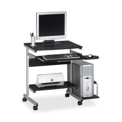 Eastwinds Portrait PC Desk Cart, Anthracite/Metallic Gray