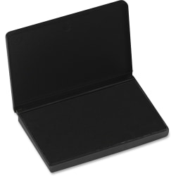 "CLI Stamp Pad - 1 Each - 2.8"" Width x 4.3"" Length - Felt Pad - Black Ink - Black"