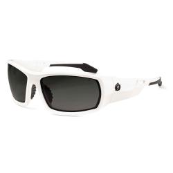 Ergodyne Skullerz® Safety Glasses, Odin, Polarized, White Frame, Smoke Lens
