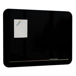 "U Brands Magnetic Unframed Dry-Erase Whiteboard, 24"" x 18"", Black"