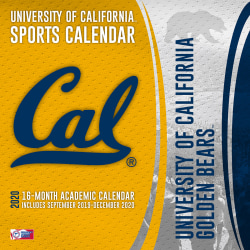 "Turner Licensing NCAA 16-Month Academic Wall Calendar, 12"" x 12"", California Golden Bears, September 2019 To December 2020, 20998012075"