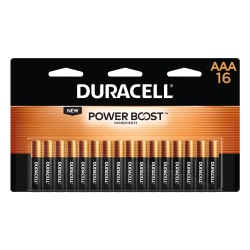 Duracell® Coppertop AAA Alkaline Batteries, Pack Of 16