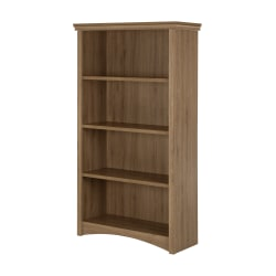 South Shore Gascony 4-Shelf Bookcase, Rustic Oak