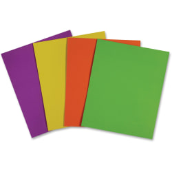 "Sparco 2-pocket Leatherette Portfolio - Letter - 8 1/2"" x 11"" Sheet Size - 2 Internal Pocket(s) - Leatherette Paper - Assorted - 25 / Box"