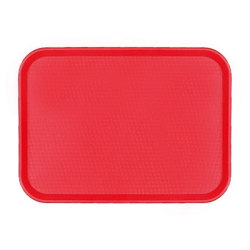 "Cambro Fast Food Tray, 10"" x 14"", Red"