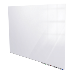 "Ghent Aria Low-Profile Magnetic Glass Unframed Dry-Erase Whiteboard, 24"" x 36"", White"