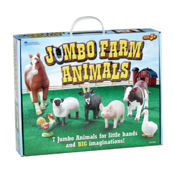 Learning Resources® Jumbo Farm Animals, Grades Pre-K - 3, Set Of 7