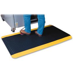 Genuine Joe Safe Step Anti-Fatigue Mat, 3' x 12', Black/Yellow