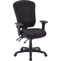 Lorell® Accord Series Managerial Fabric Chair, Black