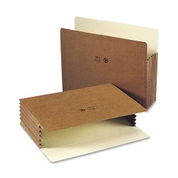 """Smead® Easy-Access Top-Tab Tyvek® File Pockets, Letter Size, 5 1/4"""" Expansion, 30% Recycled, Redrope, Box Of 10"""