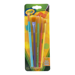 Crayola Arts & Crafts Synthetic Brushes, Assorted, Pack Of 5