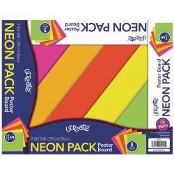 "Pacon® Peacock® Coated Poster Board, 11"" x 14"", Assorted Colors, Pack Of 5"
