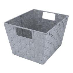 Realspace® Woven Storage Tote, Medium Size, Gray