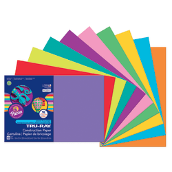 "Tru-Ray® Construction Paper, 50% Recycled, Assorted Colors, 12"" x 18"", Pack Of 50 Sheets"