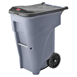 Rubbermaid® Big Wheel® Roll-Out Container, 65 Gallons, Gray