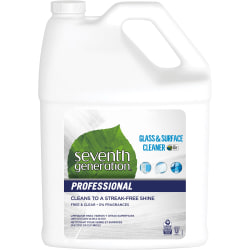 Seventh Generation Professional Glass & Surface Cleaner - Liquid - 128 fl oz (4 quart) - 1 Each - Multi