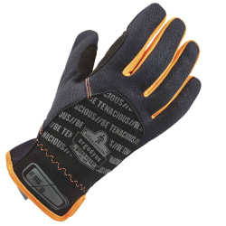 Ergodyne ProFlex 815 QuickCuff Utility Gloves, Small, Black