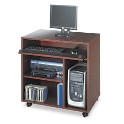 Safco® Ready-To-Use Woodgrain/Laminate Computer Workstation, Mahogany