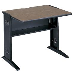 Safco® Reversible-Top Computer Desk, Mahogany/Medium Oak