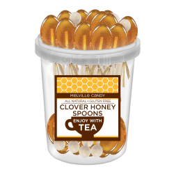 Melville Candy Naturally Flavored Honey Spoons, Clover Honey, Pack Of 30