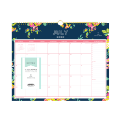 "Day Designer® for Blue Sky™ Academic Monthly Wall Calendar, 15"" x 12"", Peyton Navy, July 2020 to June 2021, 107934-A"