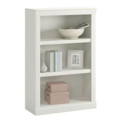 """Realspace® 45""""H 3-Shelf Bookcase, Arctic White"""