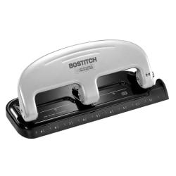 Bostitch® EZ Squeeze 3-Hole Punch, Black/Silver
