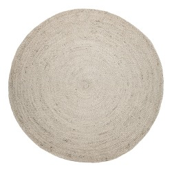 Anji Mountain Kerala Natural Jute Rug, 8', Ivory