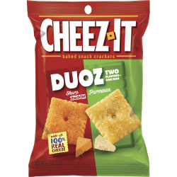 Keebler Cheez-It Duoz Cheddar/Parmesan Crackers - Sharp Cheddar, Parmesan - Carton - 4.30 oz - 6 / Carton