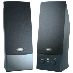 Cyber Acoustics 2.0 USB Speaker System, Black, CA-2016WB